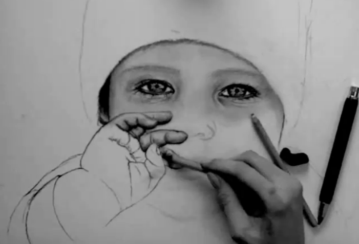 ein baby zeichnen lernen mit video tutorial. Black Bedroom Furniture Sets. Home Design Ideas