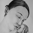 Doppelportrait mit Säugling
