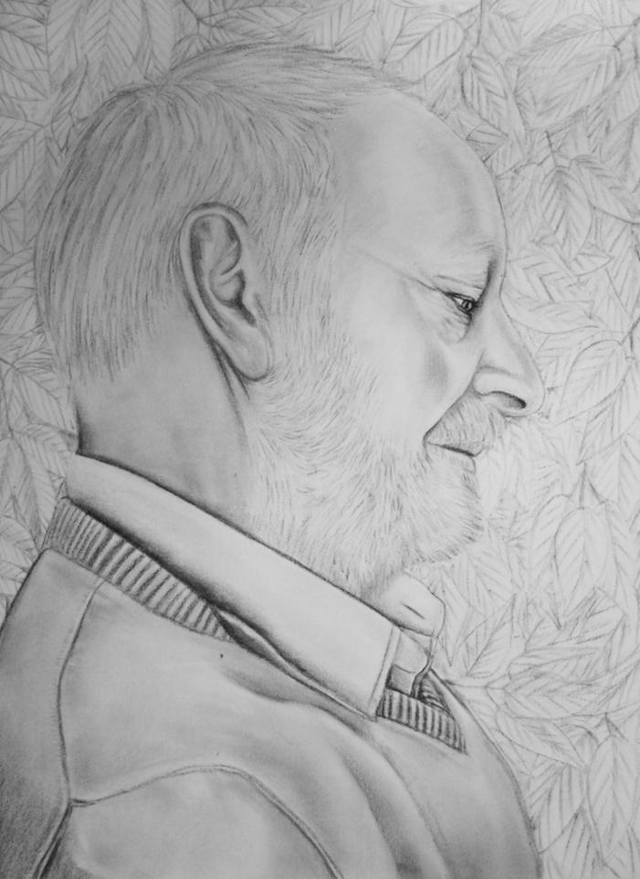 portrait-großvater-blaetter-kohle