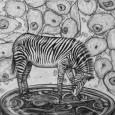 zeichnung-zebra-uhr-zellgewebe-surreal-kohle-mini