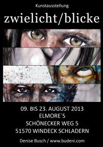 Der Flyer für meine erste Ausstellung